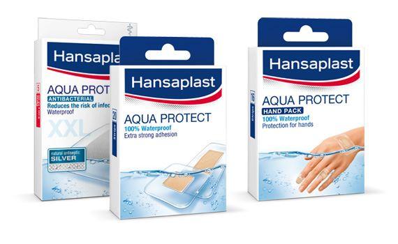 Range of waterproof Hansaplast plasters