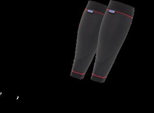 Wadenbandage Hansaplast 2er in schwarz-rot