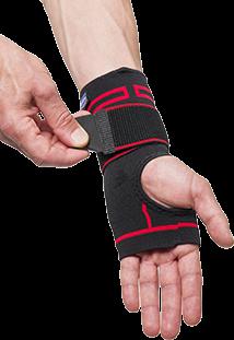 Handgelenkbandage in Rot und Schwarz