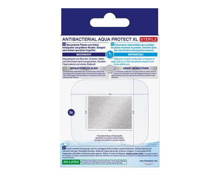 Antibacterial Aqua Protect Pflaster XL Rückseite