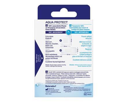 Hansaplast Aqua Protect Pflaster Rückseite