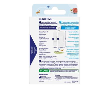 Sensitive Kinderpflaster Rückseite