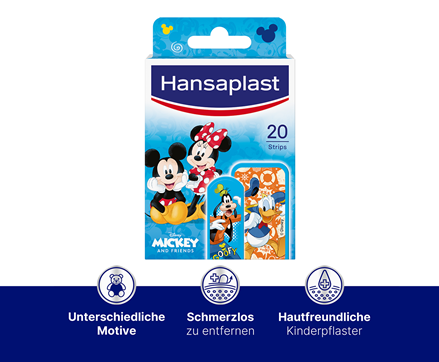 Mickey Mouse Pflaster Infografik