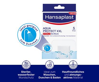 Hansaplast Aqua Protect XXL Pflaster Infografik