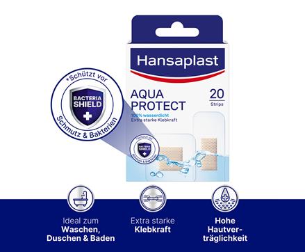 Hansaplast Aqua Protect Pflaster Bacteria Shield