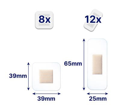 Hansaplast Aqua Protect Pflaster Maße