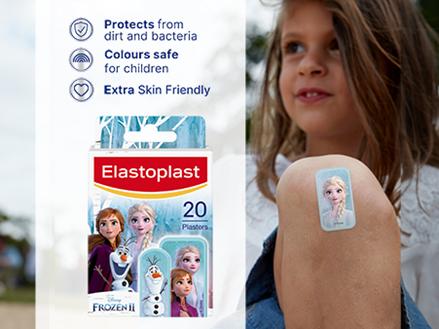 Elastoplast Frozen 2 plasters key benefits