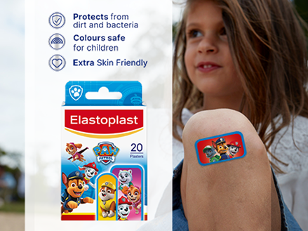 Elastoplast PAW Patrol Plasters key benefits