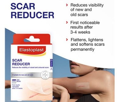 An image of the scar reducer pack and someone using it