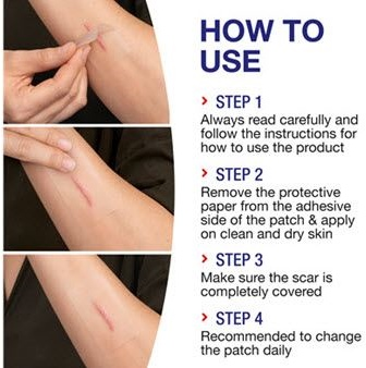 How to steps for using the scar reducer patch