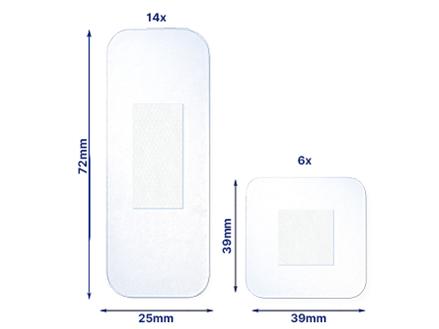 Elastoplast Aqua Protect plasters out of pack