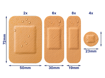Water resistant plasters 20 out of pack