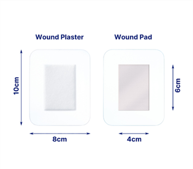 An image of the sensitive xxl dressing plaster and pad size