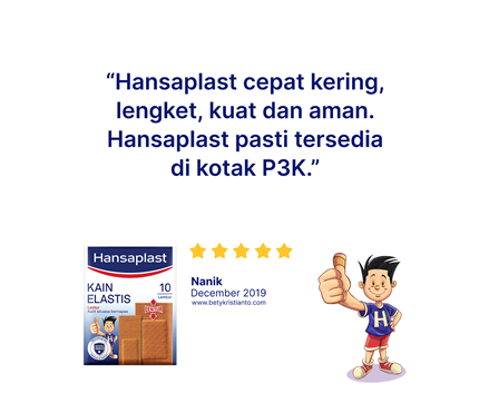 Hansaplast Kain Elastis 10 Lembar Review