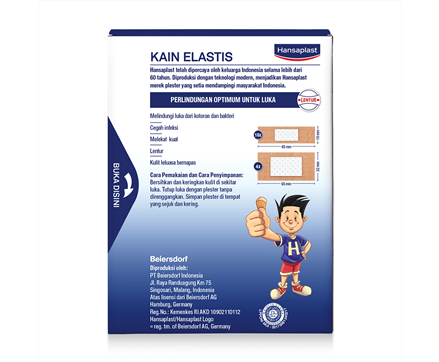 Hansaplast Kain Elastis 20 Lembar Back Cover
