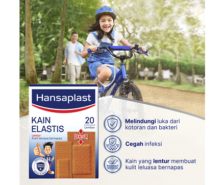 Hansaplast Kain Elastis 20 Lembar Benefits