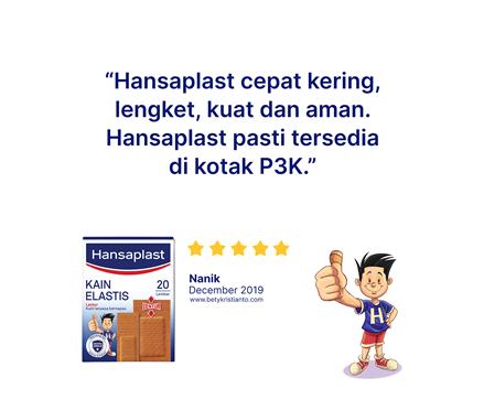 Hansaplast Kain Elastis 20 Lembar Review