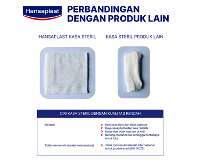 Hansaplast Kasa Steril 10cm Comparation