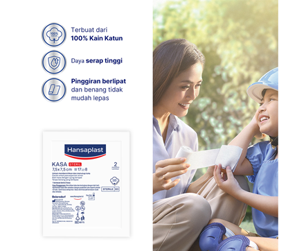 Hansaplast Kasa Steril 7,5cm Benefits