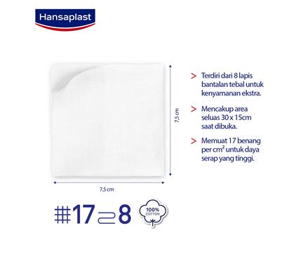 Hansaplast Kasa Steril 7,5cm Size