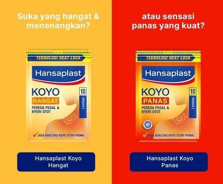 Hansaplast Koyo Hangat 10s Comparation