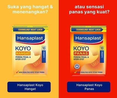 Hansaplast Koyo Panas 10s Comparation