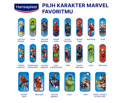 Hansaplast Marvel Avenger Strips