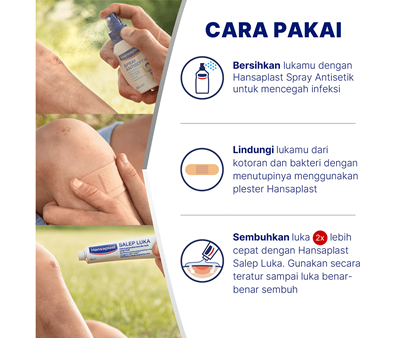 Hansaplast Spray Antiseptik How to