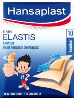 Hansaplast Plester Kain Elastis 10 Lembar