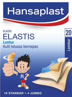 Hansaplast Plester Kain Elastis 20 Lembar