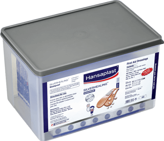 Silver healing Wash proof Wound Plaster Big Kit for faster wound healing | Hansaplast