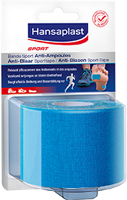Anti-blaren sporttape in het blauw - Hansaplast
